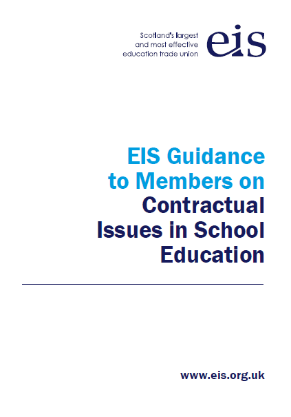 EIS Guidance to Members on Contractual Issues in School