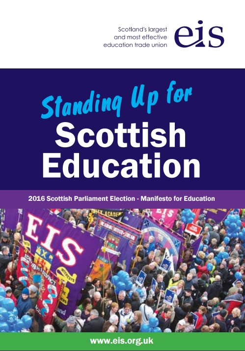 Standing up for Scottish Education manifesto cover