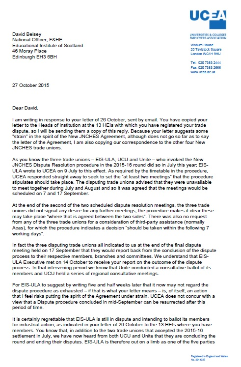 UCEA Letter to EIS from Helen Fairfoul 27.10.15 cover